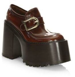 Marc Jacobs Ruth Leather Platform Loafers