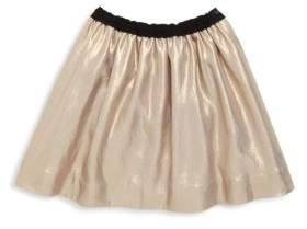 Bonpoint Little Girl's & Girl's Jupe Habillee Metallic Skirt