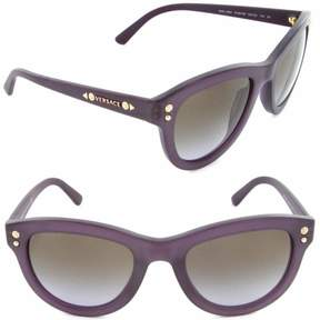 Versace Women's VE4291 VE/4291 5139/68 Transparent Violet Gold Sunglasses 53mm