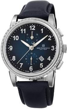Bruno Magli Men's Swiss Made Ronda Quartz 3520D Dante Watch, 42mm