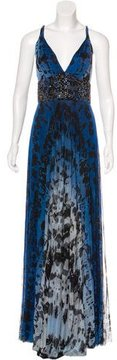 Alberto Makali Silk Embellished Dress