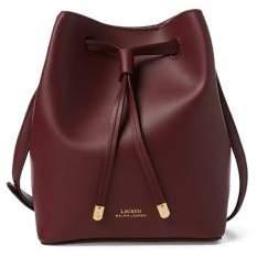 Lauren Ralph Lauren II Mini Drawstring Leather Crossbody Bag