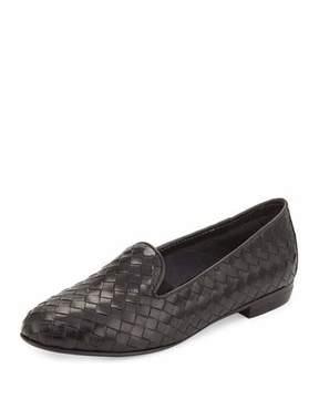 Sesto Meucci Nader Woven Leather Loafer, Black