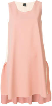 Pinko bicolour peplum back shift dress