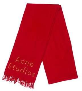 Acne Studios Logo Fringe-Trimmed Scarf