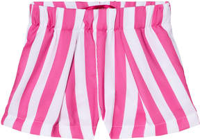 Agatha Ruiz De La Prada Pink And White Striped Shorts