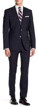 HUGO BOSS Hutson Glenplaid Notch Collar Flat Front Pants 2-Piece Suit