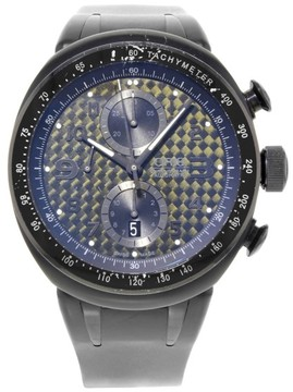 Oris TT3 Chronograph 7611 Titanium / Rubber with Black Dial 44.50mm Mens Watch