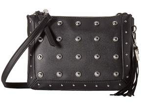 Jessica Simpson Pilar Stud Double Top Zip Crossbody