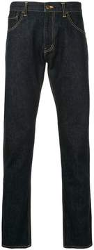 Facetasm side stripe detail jeans