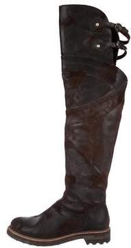 Cesare Paciotti Leather Over-The-Knee Boots