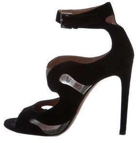 Alaia Cutout Ankle Strap Sandals
