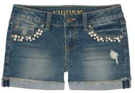 Vigoss Little Girl's Faux Pearls Galore Shorts