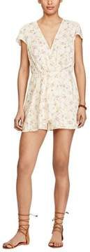 Denim & Supply Ralph Lauren Floral Print Faux Wrap Romper.