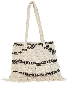Billabong Beach Comber Crochet Tote - White