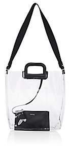 Barneys New York Women's Leather-Trimmed Transparent Tote Bag-Black