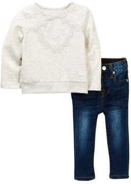 7 For All Mankind Popover & Skinny Jeans (Baby Girls)