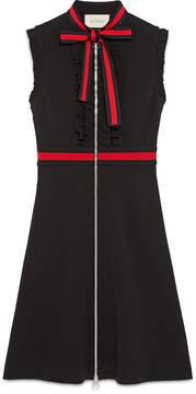 Jersey dress with Web trim