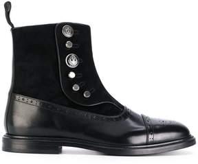 Dolce & Gabbana buttoned brogue detail boots