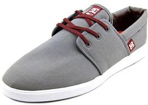 DC Haven Men Round Toe Canvas Gray Skate Shoe.
