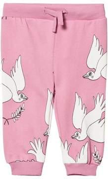 Mini Rodini Pink Peace Sweatpants