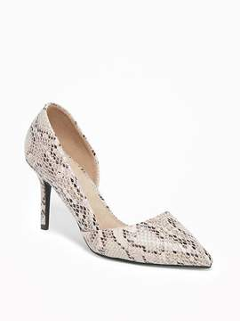 Old Navy Faux-Snakeskin D'Orsay Pumps for Women