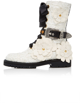 Fausto Puglisi Floral Booties