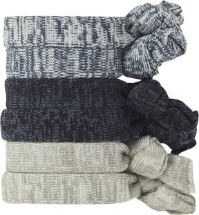 Scunci Heathered Knotted Ponytailers