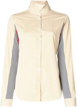 Aalto stripe colour-block fitted shirt