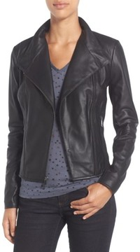 Andrew Marc Women's 'Felix' Stand Collar Leather Jacket