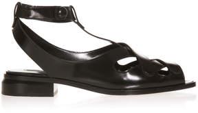 Emporio Armani Cutout Strap Sandals
