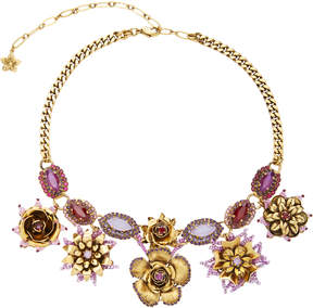 Erickson Beamon 24K Gold-Plated Vermeil Swarovski Crystal and Pearl Necklace