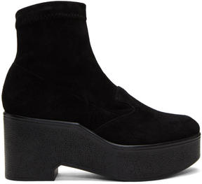 Robert Clergerie Black Suede Xupn Boots