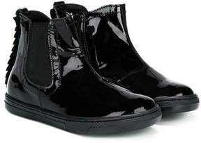 Hogan zig zag trim boots
