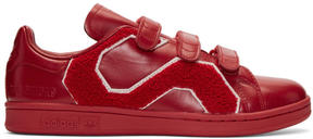 Raf Simons Red adidas Originals Edition Stan Smith Comfort Badge Sneakers