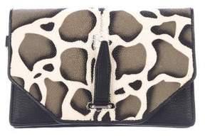 3.1 Phillip Lim Jaguar Print Stingray Small Flap Clutch