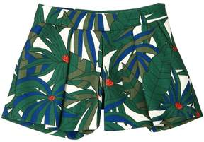 Little Marc Jacobs Jungle Printed Cotton Canvas Shorts