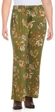 Context Plus Tassel Accented Floral Print Pants