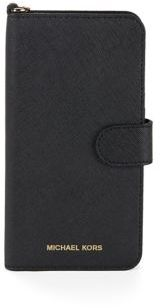 MICHAEL Michael Kors 7 Plus Leather Folio Phone Case