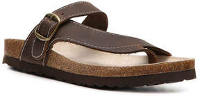 White Mountain Women's Carly Nubuck Flat Sandal