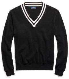 Ralph Lauren Cotton Cricket Sweater Black And Cream M