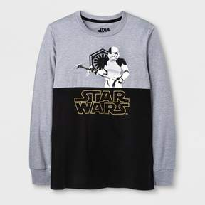 Star Wars Boys' Rule The Dark Stormtrooper Long Sleeve T-Shirt - Heather Gray