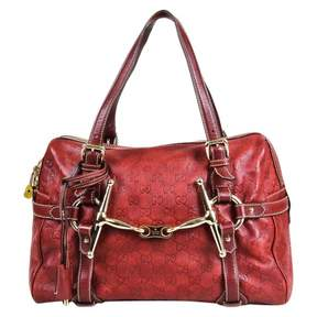 Gucci Boston leather satchel - RED - STYLE