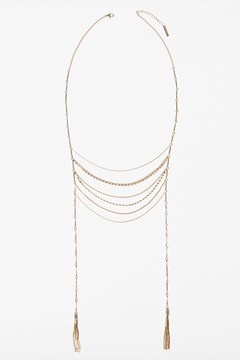 Dynamite Long Chain Statement Necklace