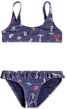 Roxy 2-Pc. Printed Bikini Swimsuit, Little Girls