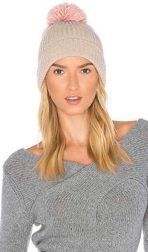 Hat Attack Rib Watch Beanie with Knit Pom