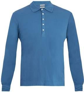 Massimo Alba Long-sleeved cotton-jersey polo shirt