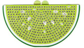Kate Spade Breath Of Fresh Air Jeweled Lime Clutch - GREEN - STYLE