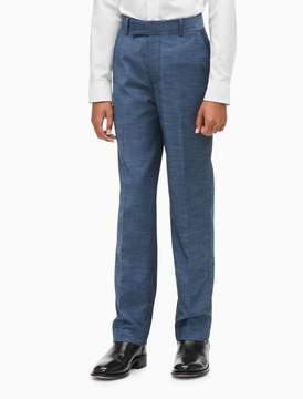 Calvin Klein boys textured weave straight leg suit pants