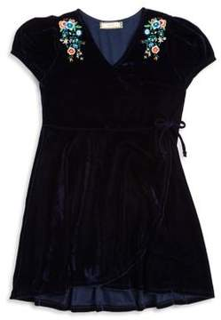 Soprano Girl's Embroidered Velvet Dress